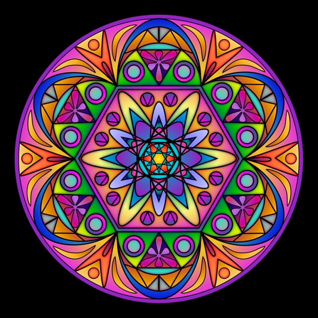 Colored Mandala -- by RuthArt  http://www.flickr.com/photos/ruthart/