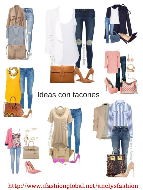 Utilizar nuestros amados jeans con unos buenos tacones se ve fabulosos.  Visita: http://www.1fashionglobal.net/anelysfashion