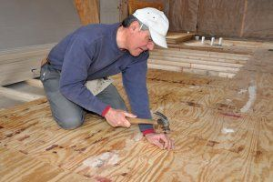 how to fix a squeaky subfloor under carpet