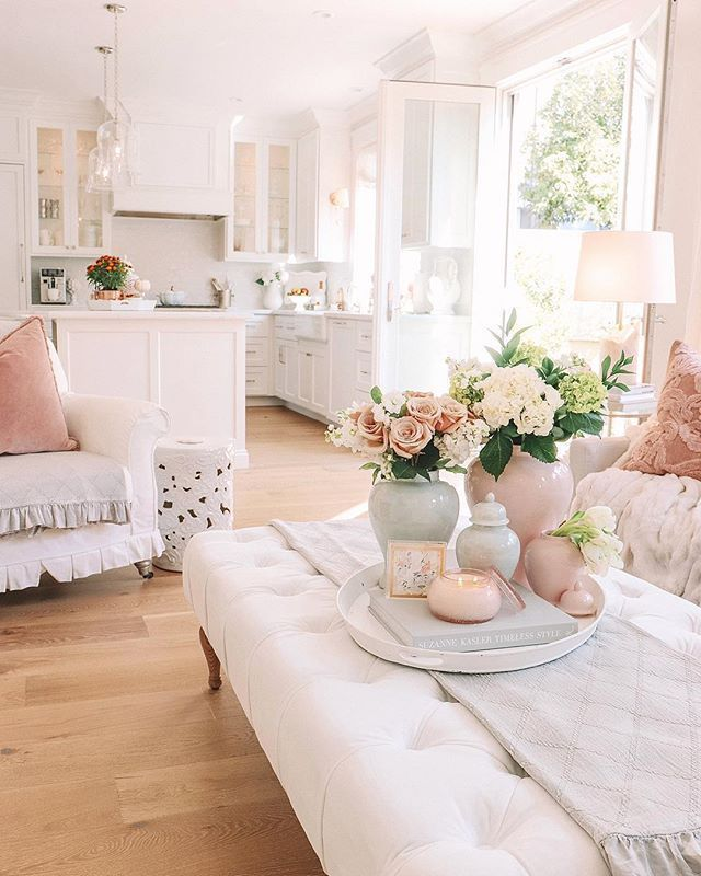 Whether you're into the cottage, country or vintage style, we have inspiring shabby chic rooms, bedding and accents for you. Super Easy And Cost Friendly Diy Projects To Make Look Your Home Elegant And High En French Country Decorating Living Room Country Living Room Pink Living Room