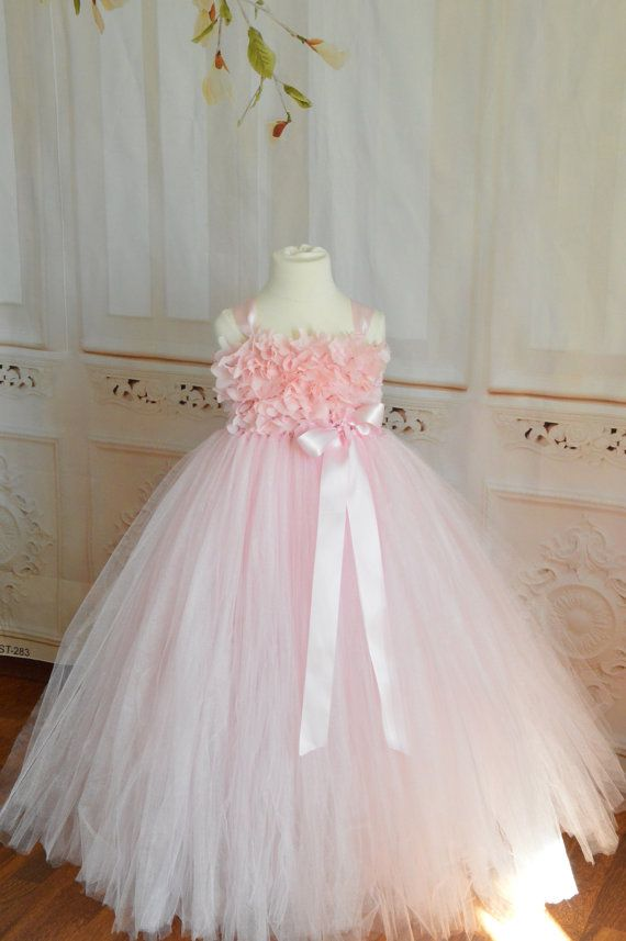 Petal Pink Hydrangea flower girl  tutu by TutuSweetBoutiqueINC, $65.00