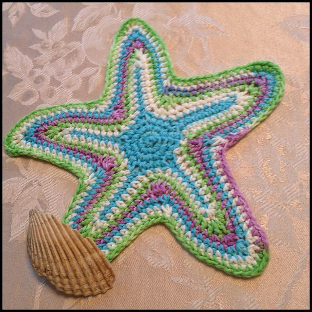 DJCstitches Starfish Dishcloth 3 Starfish, Ravelry and ...