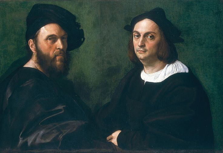 Raphaël - Raffaello - Rafael - Renaissance - Double Portrait : Andrea Navagero & Agostino Beazzano - 1516