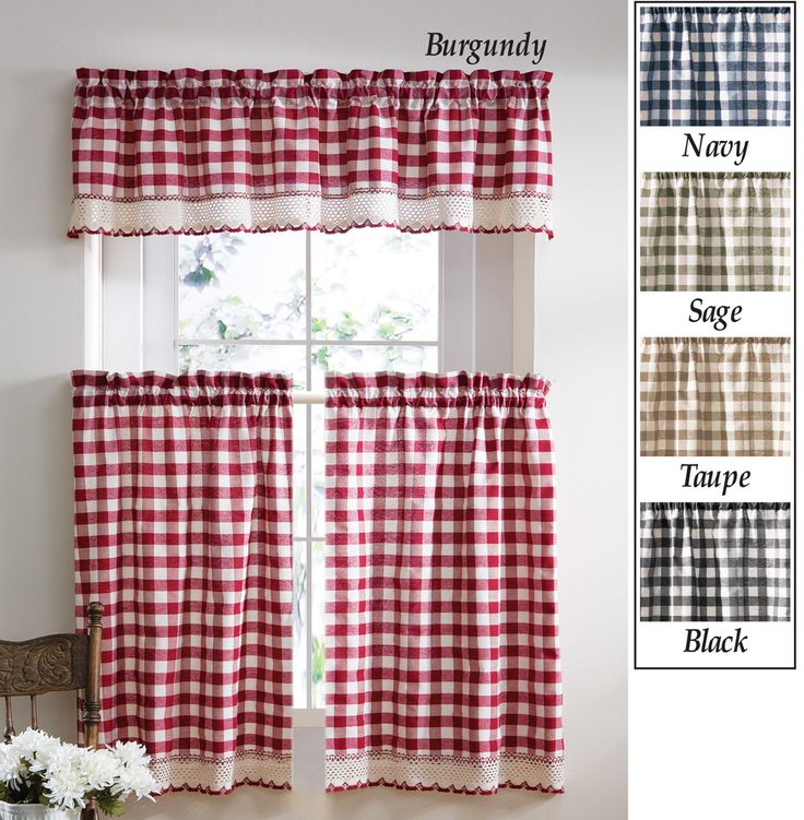 High Quality Collections Etc Buffalo Checkered Primitive Country Curtains   Home   Home  Decor   Window Treatments U0026 Hardware   Drapes U0026 Curtains   Tier Curtains