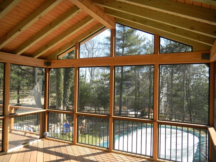 post and beam screened porches - Google Search