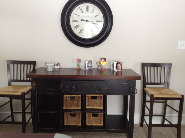 Center Island? Bar? Sideboard? You Decide. In Black Heavy Distressed From  Platypus