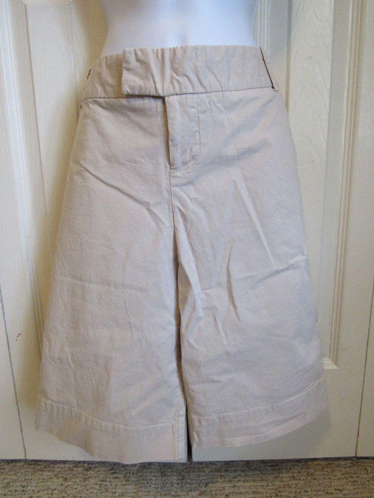 MOSSIMO Stretch Khaki/Tan Womens Sz 10 Classic Bermuda Long Shorts Cotton Blend #Mossimo #BermudaWalking