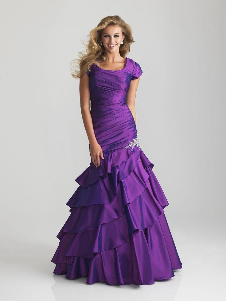 Mejores 9 imágenes de Modest prom dresses en Pinterest   Vestidos de ...