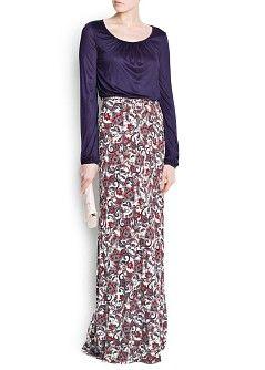MANGO - CLOTHING - Dresses - Maxis - COMBI LONG DRESS