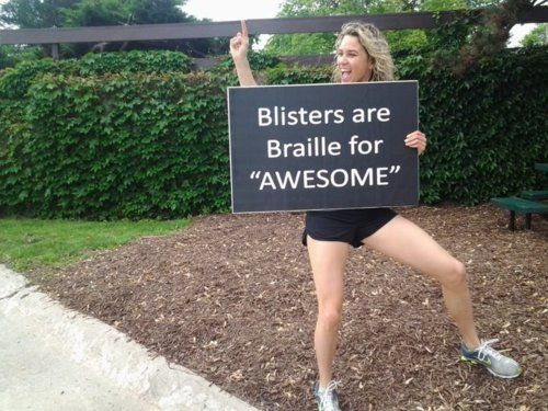MOVE NOURISH BELIEVE: Funnies Motivation, Blister, Awesome, Marathons Signs, Daily Motivation, Going Girls, Racing Signs, Fit Motivation, Funnies Signs