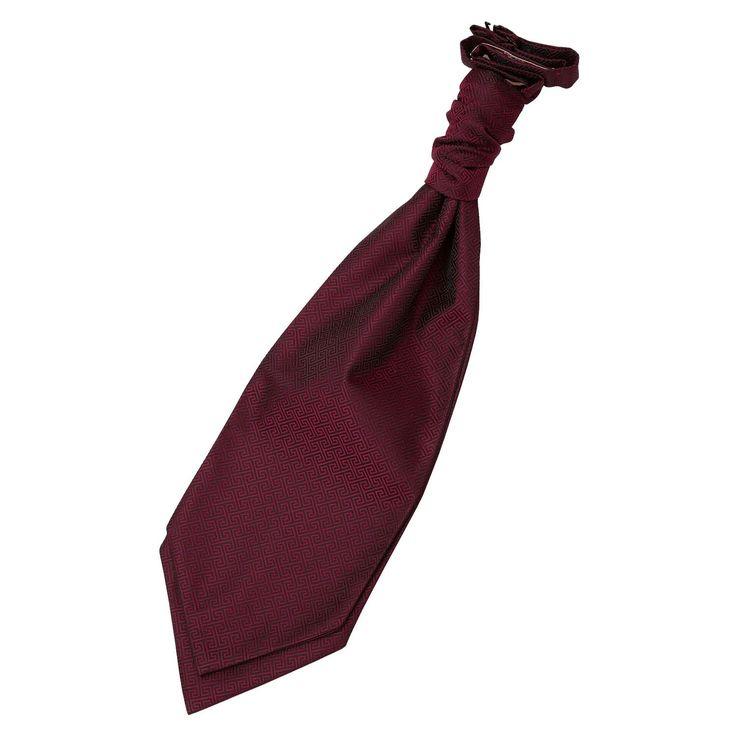 Burgundy Greek Key Wedding Cravat