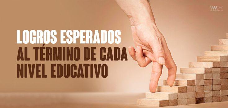 LOGROS ESPERADOS AL TÉRMINO DE CADA NIVEL EDUCATIVO http://blgs.co/nahD88