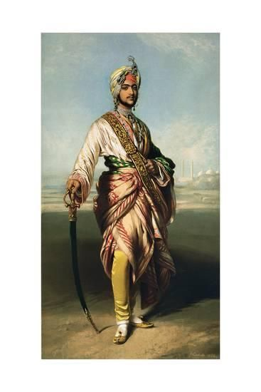 Duleep Singh, Maharajah of Lahore (1838-93), 1854 Lithographed by R.J. Lane Giclee Print by Franz Xaver Winterhalter at Art.com