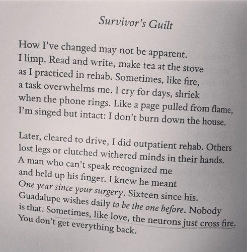 """Survivor's Guilt"" by Patricia Kirkpatrick | #poem #poetry"