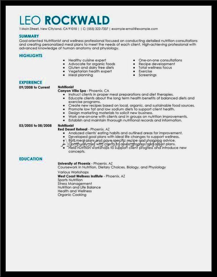 Example Good Resume Template, Example Good Resume Template