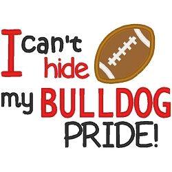 Bulldog Pride Boy Applique - 3 Sizes! | Football | Machine Embroidery Designs | SWAKembroidery.com