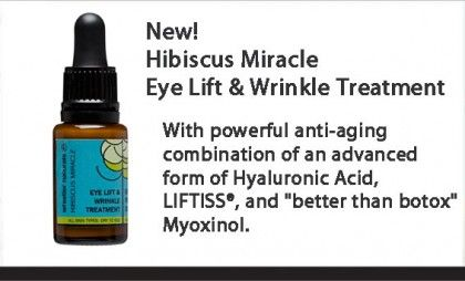 Whistler Naturals harnesses this miracle ingredient in their new Eye Lift & Wrinkle Treatment to bring you a 100% natural product that reverses the years, without breaking the bank. Erasing Wrinkles naturally without the