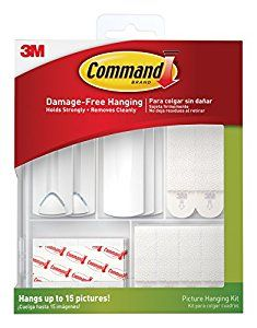 Command Picture Hanging Kit, 3-Sawtooth Picture Hangers, 2-Wire-Backed Picture Hangers, 5-Large Strips, 4-Sets of Large Picture Hanging Strips, 8-Sets of Small Picture Hanging Strips, 16-Poster Strips - - Amazon.com