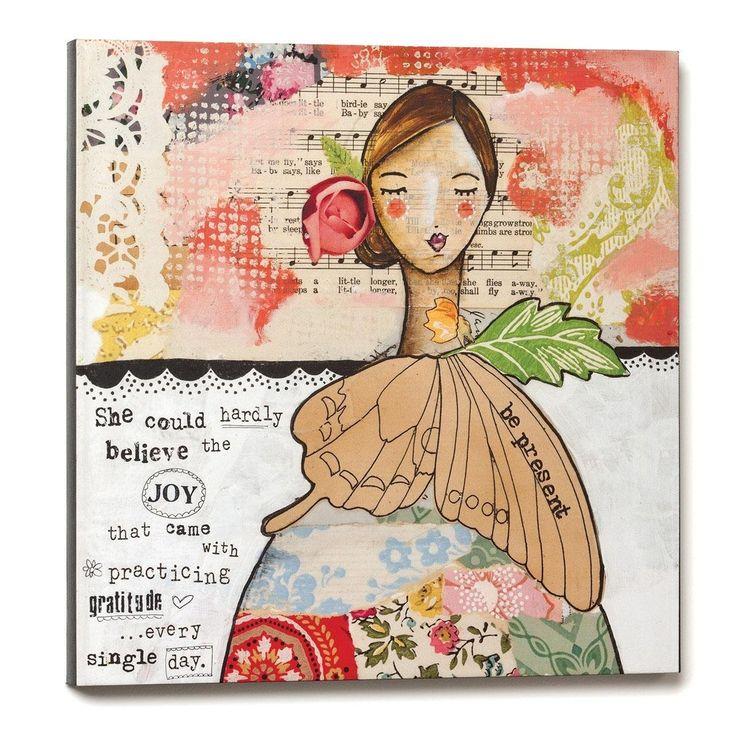 Amazon.com: Demdaco Kelly Rae Roberts Be Present Gratitude Wall Art, 16-Inch: Posters & Prints