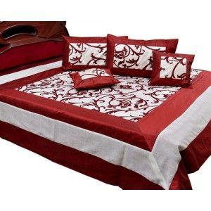 Conjunto de seda para cama doble con diseño floral, 5 piezas. 1 cubrecama, 2 fundas de cojin, 2 fundas de almohada. Precio: 140€
