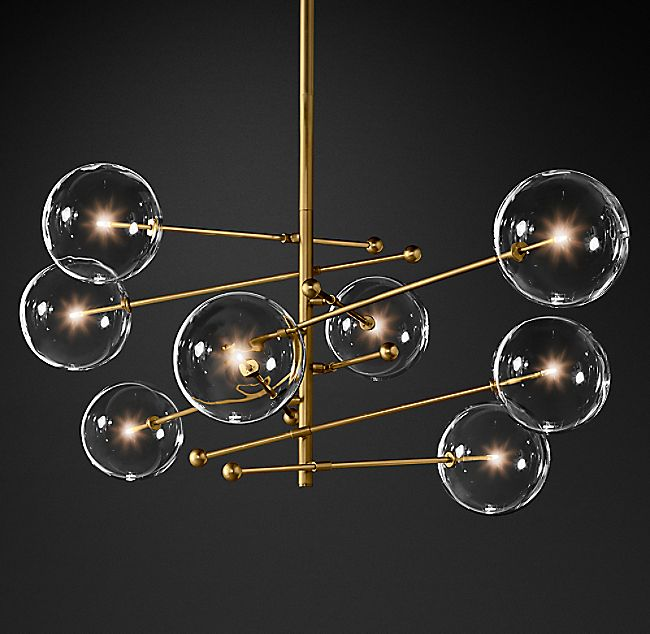 Glass Globe Mobile 8 Arm Chandelier 79 With Images