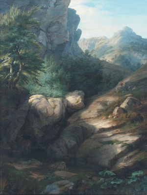 Hornatá krajina-Antonín Mánes
