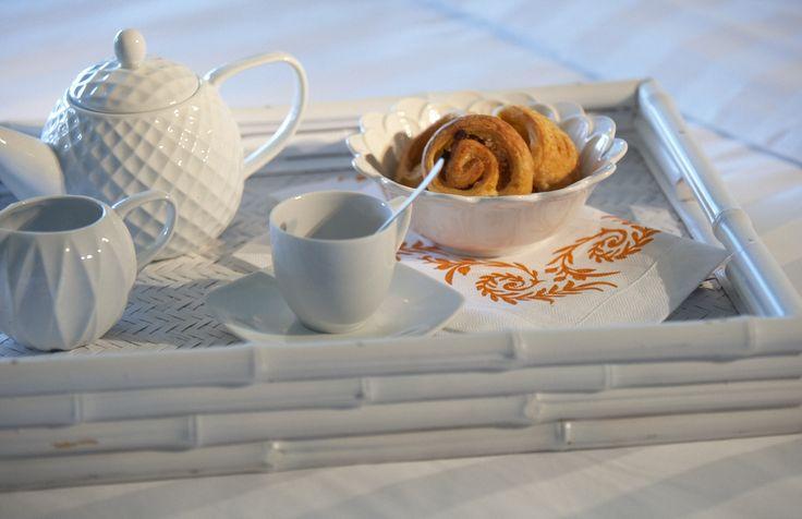 Breakfast Tray #marbellacorfu #greekbreakfast #croissant #coffee