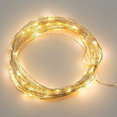 LianLe-3M, 30 LEDS,blanco-cálido LUZ, alambre de cobre de plata LED luces estrelladas cadena hadas alimentado por batería,la distancia del Lámpara es 10cm,Fuente de alimentación: 3 * AA pilas (no incluidas)