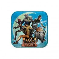 Star Wars Rebels Square Dinner Plates Pkt8 $8.95 A551841