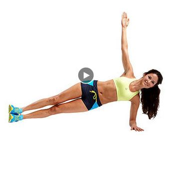 Exercises for Obliques: Plank Tap