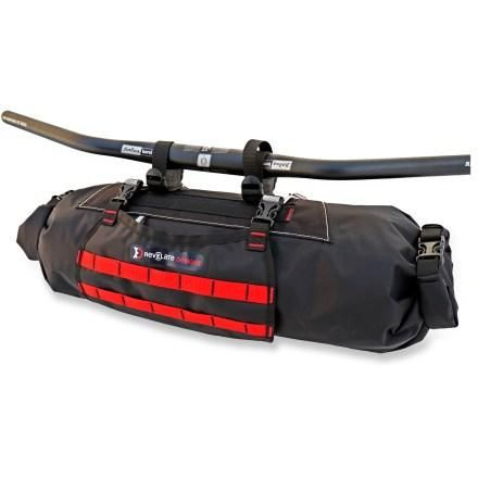 Revelate Designs Sweetroll Handlebar Bag A dual-ended dry bag that hangs from your handlebars for bikepacking trips, the Revelate Designs Sweetroll is totally waterproof and super tough. $100.00