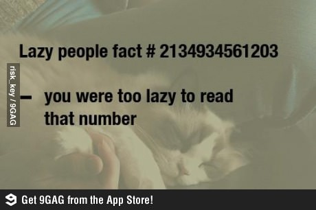 So, are you lazy?