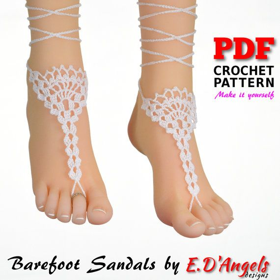Barefoot Sandals  Crochet Pattern  bridesmaids gift  SHELL