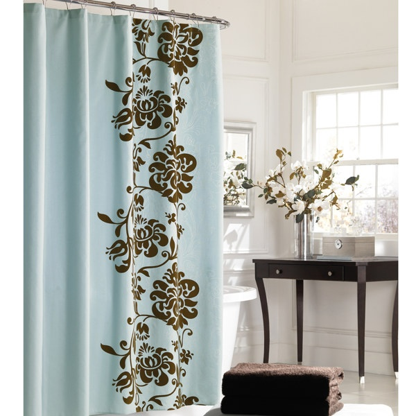 Manor Hill Polonaise 72 X 72 Fabric Shower Curtain 29 99 Ea Bed