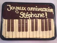 Pâtisserie Nadine: Donauwellen-Piano-Kuchen für Stéphane
