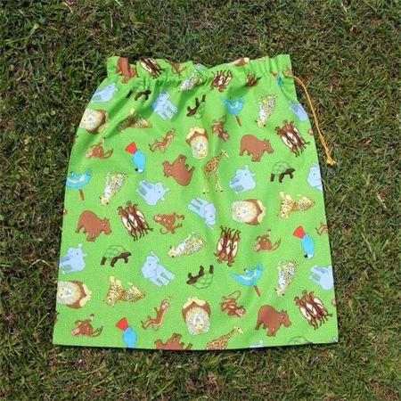 Handmade Green Boys Library Bag