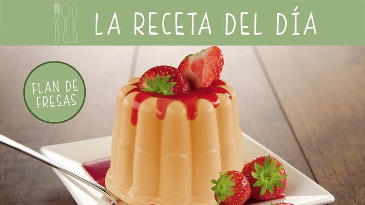 Sorprende a tu familia con un súper postre preparando una #receta flan de fresas como este. 🍓🍓🍓