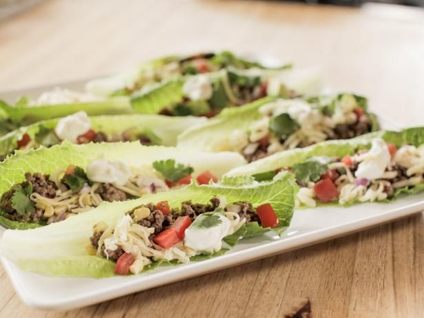 Get Southwest Beef Lettuce Wraps Recipe from Food Network