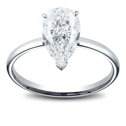 1 33tcw Pear Shape Women s Diamond Engagement Ring Ring is nice and simpl