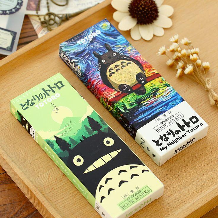 32 pcs/ensemble de Bande Dessinée Totoro signet Anime papier page titulaire carte Mémo Papeterie bureau fournitures Scolaires separador de libros F392