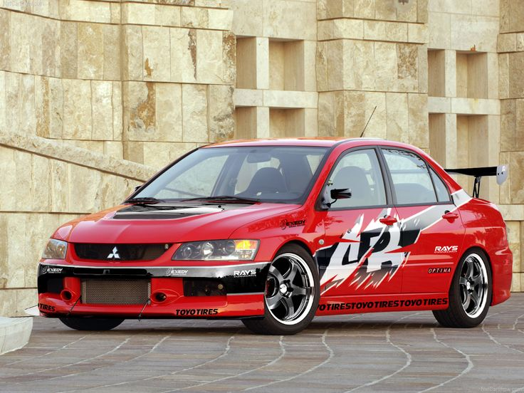 Mitsubishi Evo used in Fast and the Furious Tokyo drift. Description from pinterest.com. I searched for this on bing.com/images