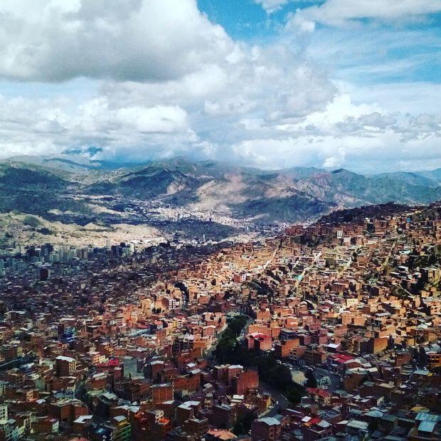 La Paz vista da El Alto. Bolivia