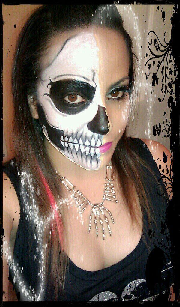 Skull makeup halloween makeup cosplay makeup skeleton makeup
