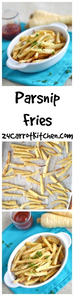 Just a few ingredients and super simple to make!  Grain, gluten and dairy free! |grain free, gluten free, dairy free, paleo, side dish, recipe, parsnip, fries|