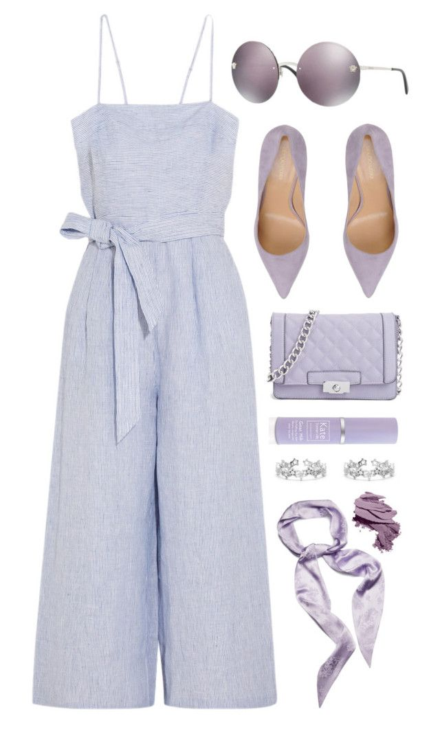 """""""Purple"""" by smartbuyglasses-uk ❤ liked on Polyvore featuring J.Crew, Sergio Rossi, Kate Somerville, Magda Butrym, Bobbi Brown Cosmetics, Versace and purple"""
