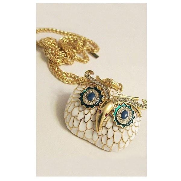 Owl Head Enamel Necklace - Oasap High Street Fashion via Polyvore