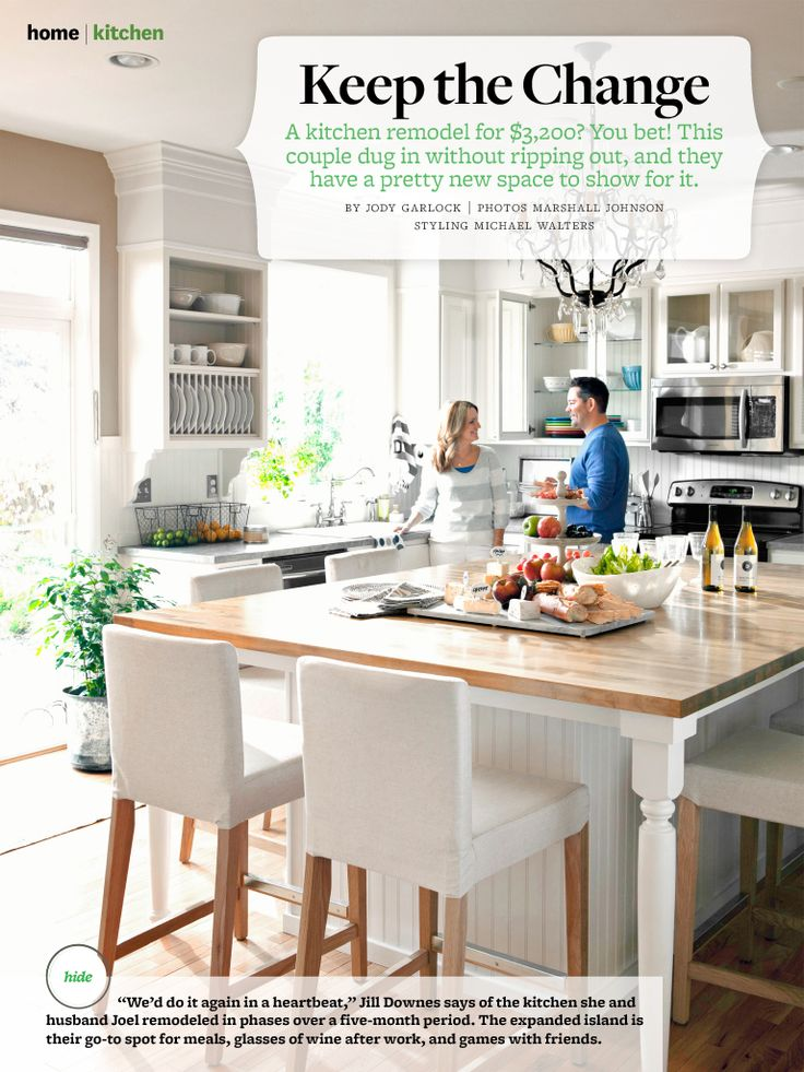Oversize Kitchen Island Table With Seating BHG August, 2013