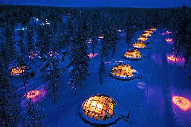 Hotel Kakslauttanen, cabin 10 in Saariselkä, Lapin Lääni