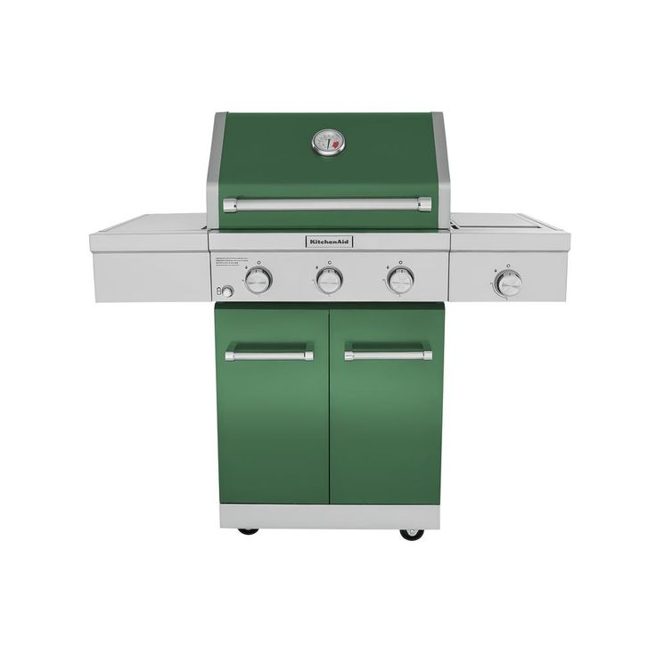 Kitchenaid 3burner propane gas grill in green with