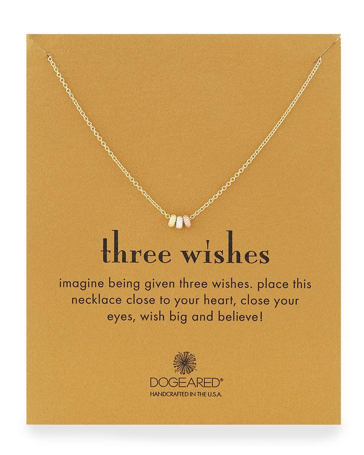 Three Wishes Pendant Necklace